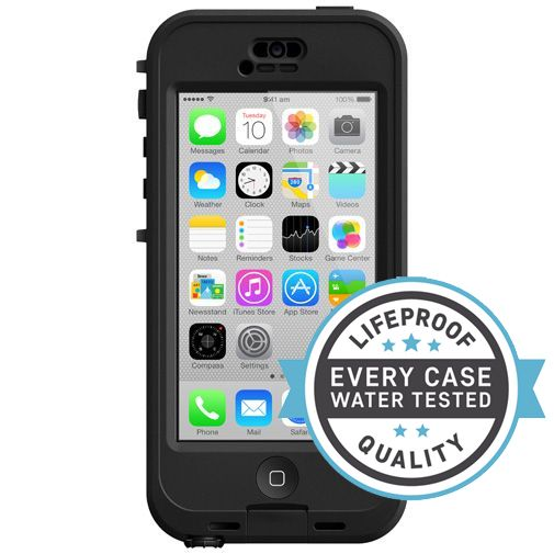 Lifeproof Nuud Case Black Clear Apple iPhone 5C