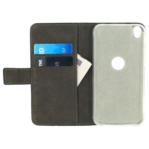 Productafbeelding van de Mobilize Classic Gelly Wallet Book Case Black Alcatel Shine Lite