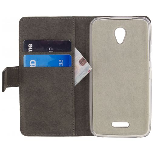 Mobilize Classic Gelly Wallet Book Case Black Lenovo A Plus