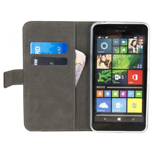 Mobilize Classic Gelly Wallet Book Case Black Microsoft Lumia 640 XL