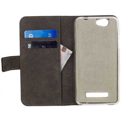 Mobilize Classic Gelly Wallet Book Case Black Wileyfox Spark+
