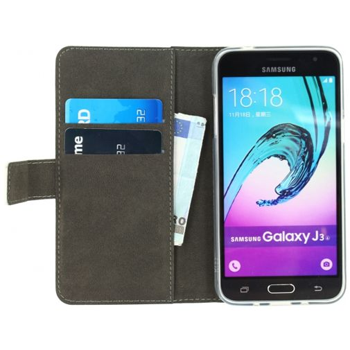 Productafbeelding van de Mobilize Classic Gelly Wallet Book Case White Samsung Galaxy J3 2016