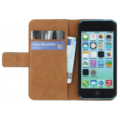 Mobilize Classic Wallet Book Case Black Apple iPhone 5C