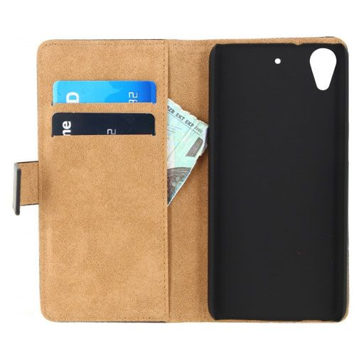 Mobilize Classic Wallet Book Case Black HTC Desire 628