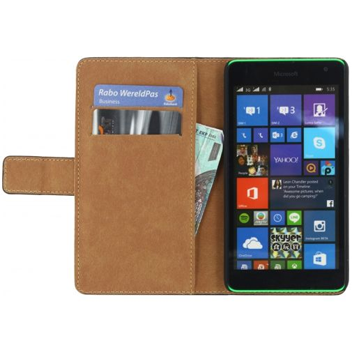 Productafbeelding van de Mobilize Classic Wallet Book Case Black Microsoft Lumia 535