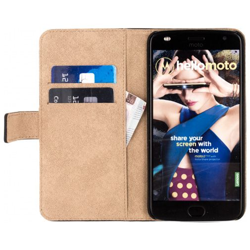 Mobilize Classic Wallet Book Case Black Motorola Moto Z2 Play