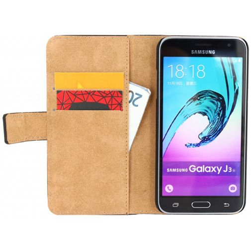 Mobilize Classic Wallet Book Case Black Samsung Galaxy J3 (2016)