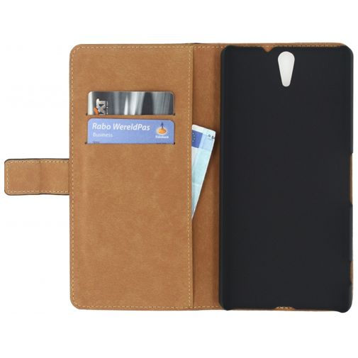 Mobilize Classic Wallet Book Case Black Sony Xperia C5 Ultra