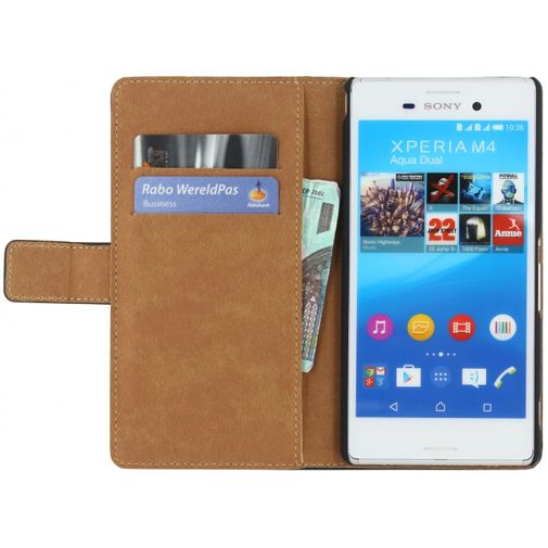 Mobilize Classic Wallet Book Case Black Sony Xperia M4 Aqua