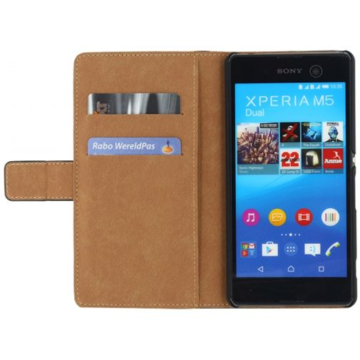 Mobilize Classic Wallet Book Case Black Sony Xperia M5