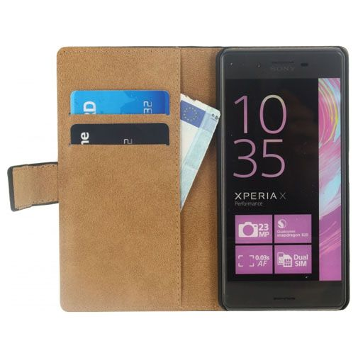 Productafbeelding van de Mobilize Classic Wallet Book Case Black Sony Xperia X Performance