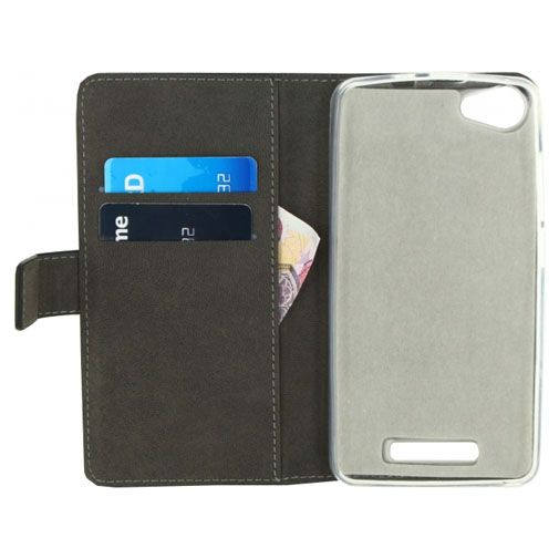 Mobilize Classic Gelly Wallet Book Case Black Wiko Jerry