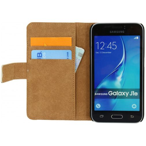 Mobilize Classic Wallet Book Case White Samsung Galaxy J1 (2016)