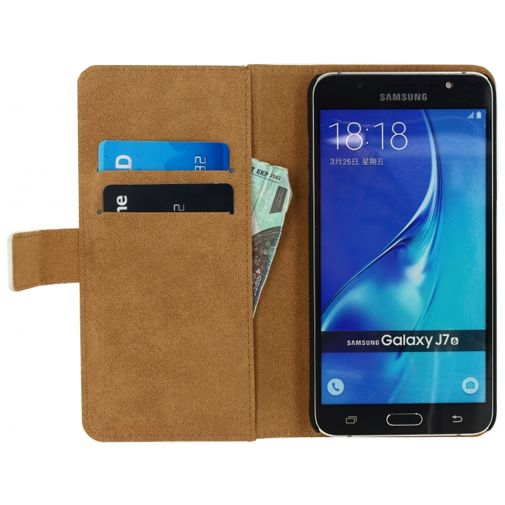 Mobilize Classic Wallet Book Case White Samsung Galaxy J7 (2016)