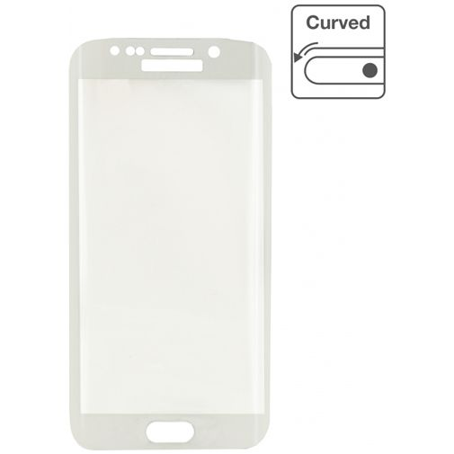 Mobilize Edge-To-Edge Glass Screenprotector Samsung Galaxy S6 Edge White