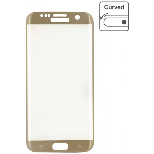 Mobilize Edge-To-Edge Glass Screenprotector Samsung Galaxy S7 Edge Gold