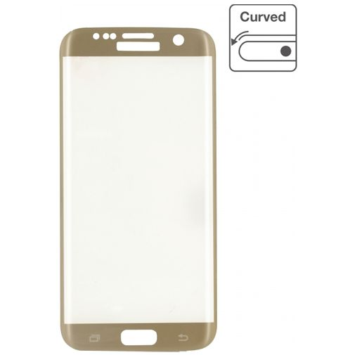 Mobilize Edge-To-Edge Glass Screenprotector Samsung Galaxy S7 Gold