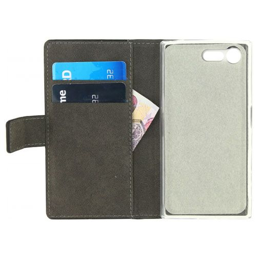 Mobilize Classic Gelly Wallet Book Case Black Sony Xperia X Compact