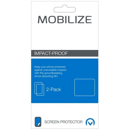 Mobilize Impact-Proof Screenprotector Apple iPhone 5/5S/SE 2-pack