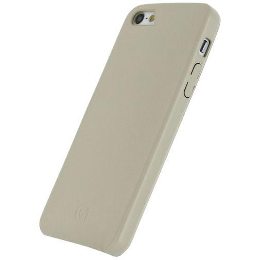 Productafbeelding van de Mobilize Leather Case Creamy White Apple iPhone 5/5S/SE
