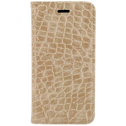 Mobilize Premium Magnet Book Case Alligator Peanut Brown Samsung Galaxy S6