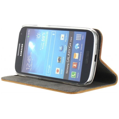 Mobilize Premium Magnet Book Case Brown Samsung Galaxy S4 Mini