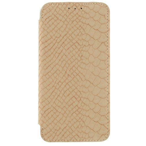 Mobilize Slim Booklet Soft Snake Creamy Rose Samsung Galaxy S6