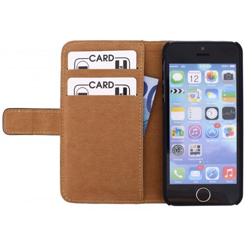 Mobilize Slim Wallet Book Case Apple iPhone 5/5S/SE Black