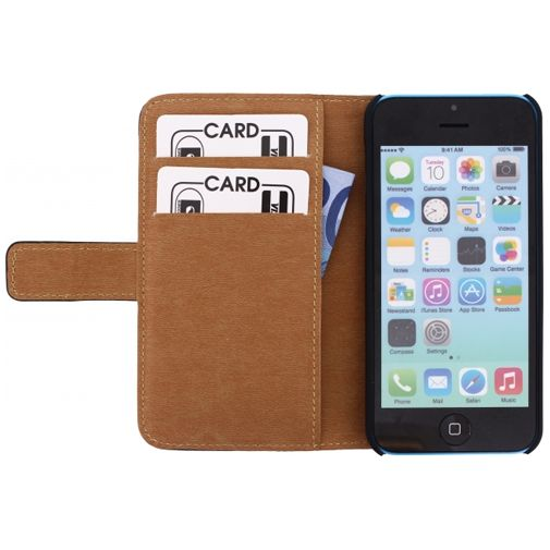 Mobilize Slim Wallet Book Case Black Apple iPhone 5C