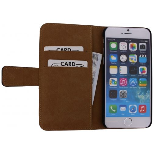 Mobilize Slim Wallet Book Case Black Apple iPhone 6/6S