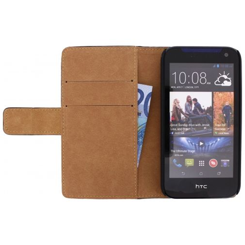 Mobilize Slim Wallet Book Case Black HTC Desire 310
