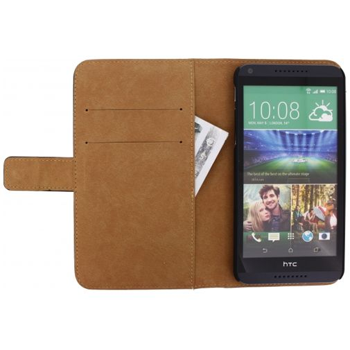 Productafbeelding van de Mobilize Slim Wallet Book Case Black HTC Desire 816