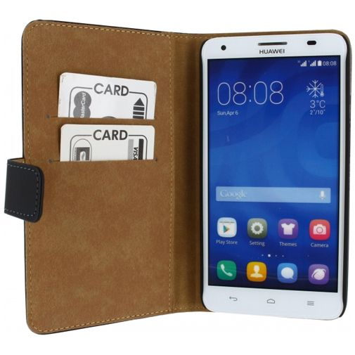 Productafbeelding van de Mobilize Slim Wallet Book Case Black Huawei Ascend G750