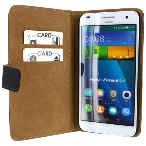 Mobilize Slim Wallet Book Case Black Huawei Ascend G7