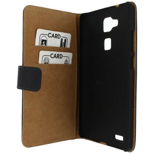 Productafbeelding van de Mobilize Slim Wallet Book Case Black Huawei Ascend Mate 7