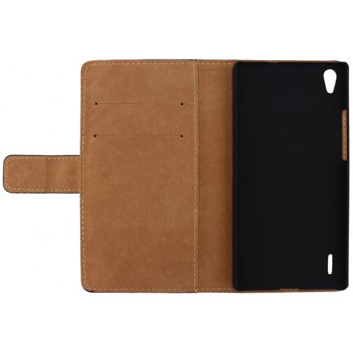Mobilize Slim Wallet Book Case Black Huawei Ascend P7