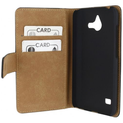Mobilize Slim Wallet Book Case Black Huawei Ascend Y550