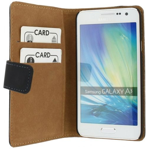 Mobilize Slim Wallet Book Case Black Samsung Galaxy A3