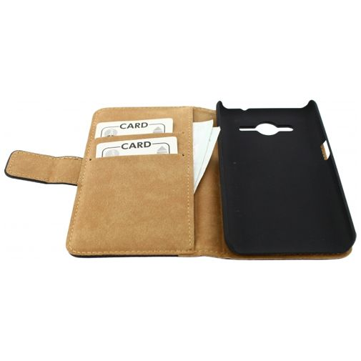Productafbeelding van de Mobilize Slim Wallet Book Case Black Samsung Galaxy Core 2
