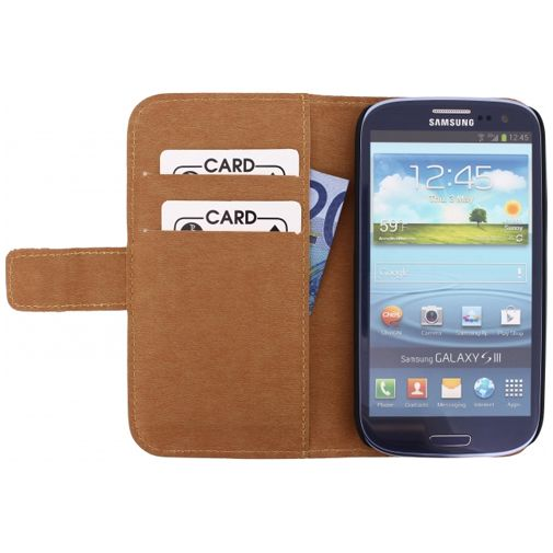 Productafbeelding van de Mobilize Slim Wallet Book Case Black Samsung Galaxy S3 (Neo)