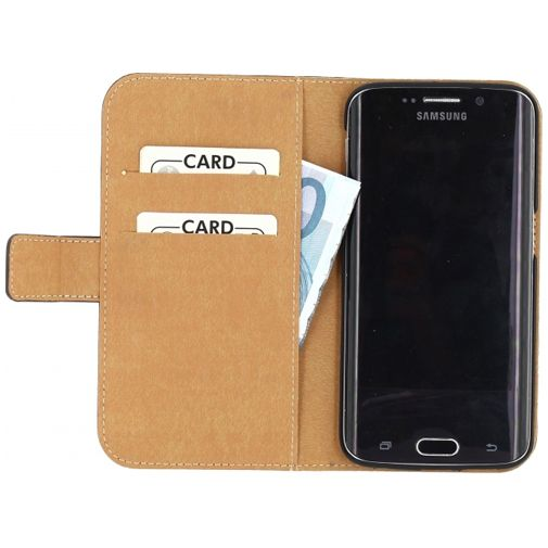 Mobilize Slim Wallet Book Case Black Samsung Galaxy S6 Edge