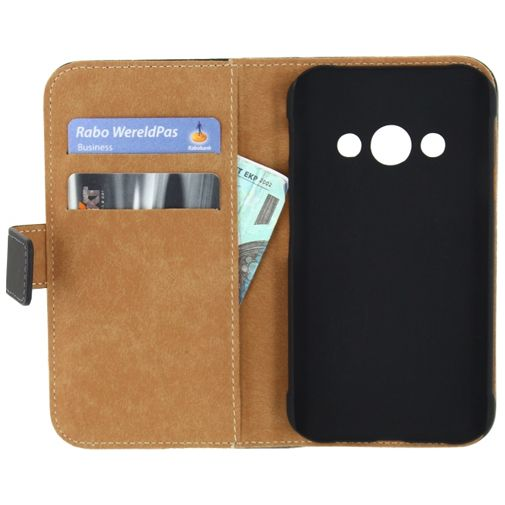 Mobilize Slim Wallet Book Case Black Samsung Galaxy Xcover 3 (VE)