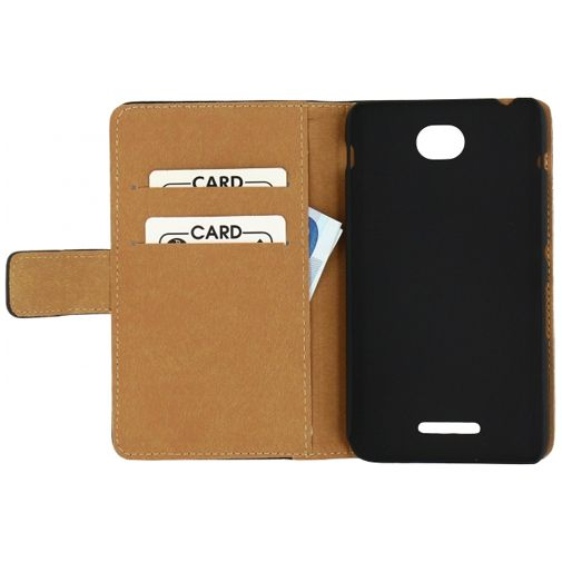 Mobilize Slim Wallet Book Case Black Sony Xperia E4