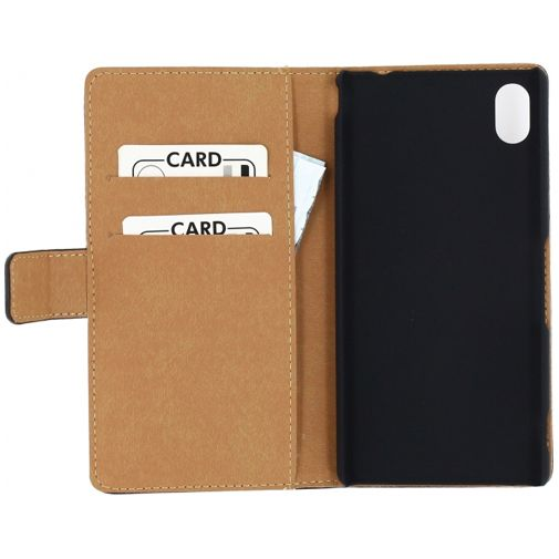 Mobilize Slim Wallet Book Case Black Sony Xperia M4 Aqua