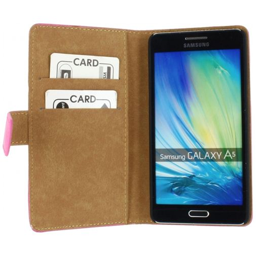 Productafbeelding van de Mobilize Slim Wallet Book Case Fuchsia Samsung Galaxy A5