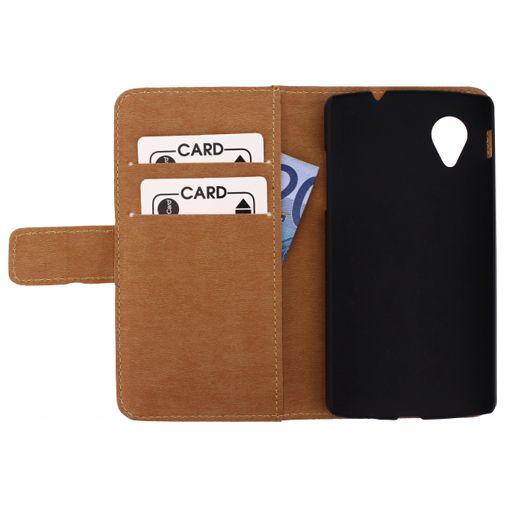 Productafbeelding van de Mobilize Slim Wallet Book Case LG Nexus 5 White
