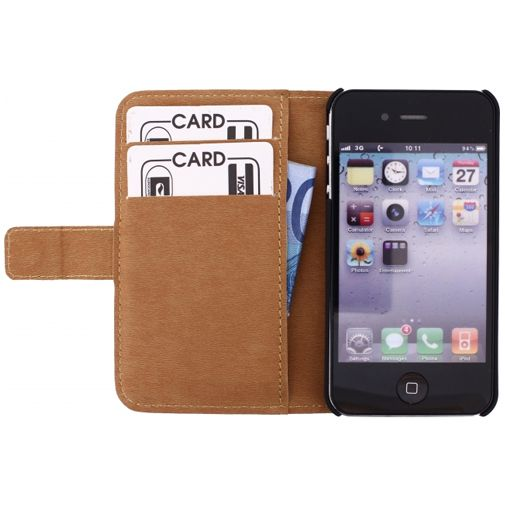 Mobilize Slim Wallet Book Case White Apple iPhone 4/4S