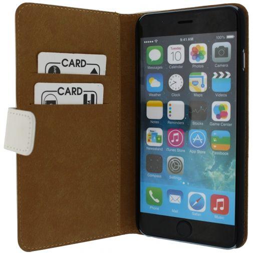 Productafbeelding van de Mobilize Slim Wallet Book Case White Apple iPhone 6 Plus/6S Plus