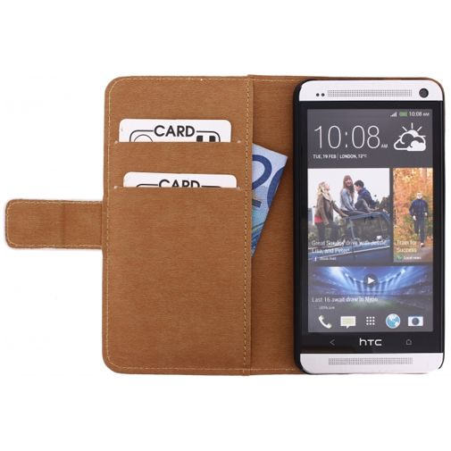 Productafbeelding van de Mobilize Slim Wallet Book Case White HTC One