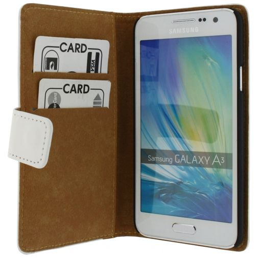 Mobilize Slim Wallet Book Case White Samsung Galaxy A3